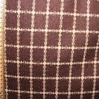 Wool Mix Dress Fabric -  Small Cream on Brown Check